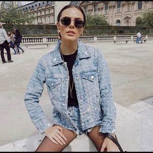 Blank NYC PunchLine Distressed Denim Jacket